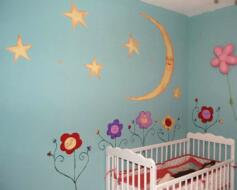 Mural Moon and Stars
